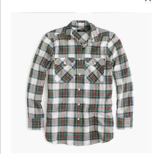 J Crew Oversized button-up shirt in Stewart tartan